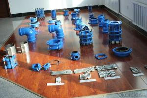DI Pipes in Water project,ductile iron double flanged taper with concentric