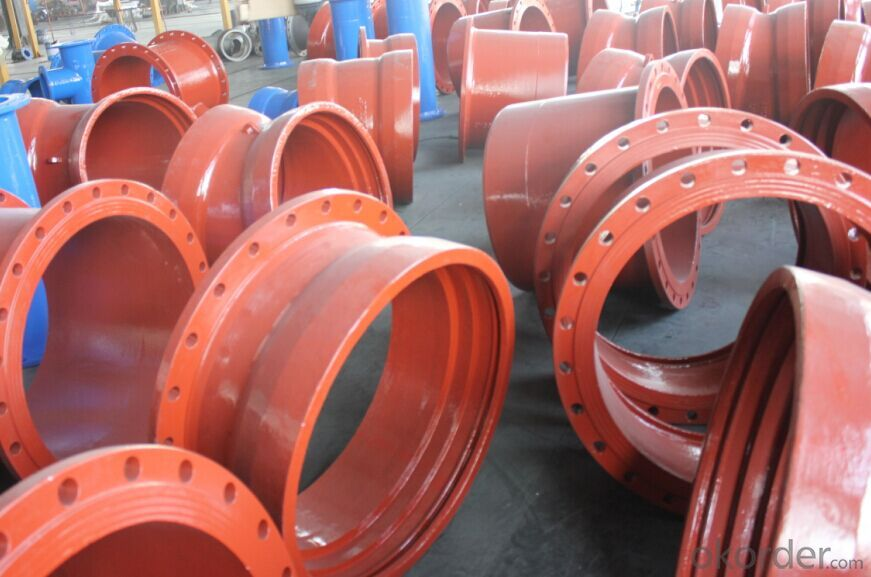 ISO2531 DI flanged pipe fitting with high quality
