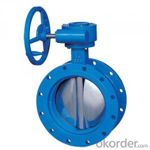 2inch Worm gear operated PTFE seated wafer type DI plated butterfly valves