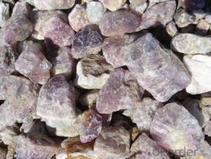 Fluorite ---10-50mm CaF2 90% Fluorite / Fluorspar Balls / Fluorspar Briquette