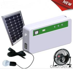 New Energy Solar Storage System with 3pcs 12V DC LED bulb