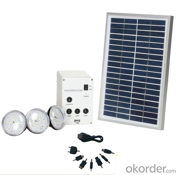 Mini Home Solar System with LED Bulbs and Mobile Charger 2W 3W 5W 10W 20W 50W 100W