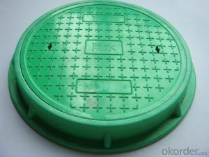 Ductile Iron Manhole Cover EN124/d400,GGG500&400-12 Cold Applied Black