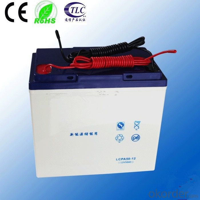 hot sale 12v 50ah gel battery with deep cycle discharge and 3 year warranty