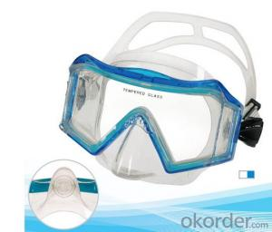 SWIM MASK TEMPERED GLASS FOR DEEP DIVING