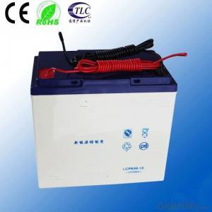 longlife maintenance free solar battery 12v50ah deep cycle battery