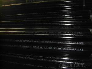 Seamless steel black pipe ASTM A106/API 5L