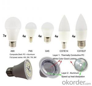 Big Promotion LED Lights Bulb PC+Aluminum Body CE A60 E27 led bulbs 9W