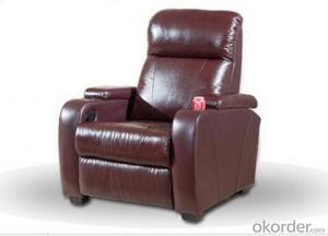 Modern Recliner Sofa by Leather and Manual Recliner, European Style