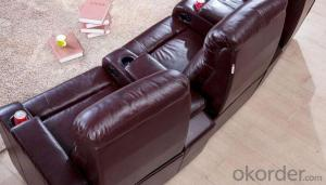 Manual Recliner Sofa, Living Room Leather Sofa