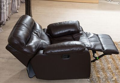 Modern Recliner Sofa, Leather Sofa, Manual Recliner