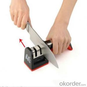 Diamond Knife Sharpener for Kitchen Use ABS Steel Material