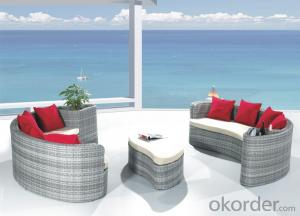 Patio Rattan Lounge Sunbed for Wicker Outdoor  Garden