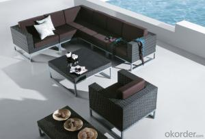 Patio Rattan  Sofa for Wicker Outdoor Chair Garden Daybed Sun Lounge
