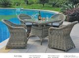Sofá de mimbre para jardín con marco de aluminio, Mobiliaria de exteriores para patio de PE ratán