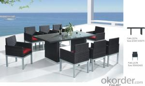 Garden Patio Furniture Wicker Chair Aluminum Frame PE Rattan Outdoor