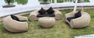 Patio Rattan  Furniture Sofa for Wicker Outdoor Chair Garden