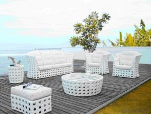 Patio Rattan  Sofa for Wicker Outdoor Chair Garden