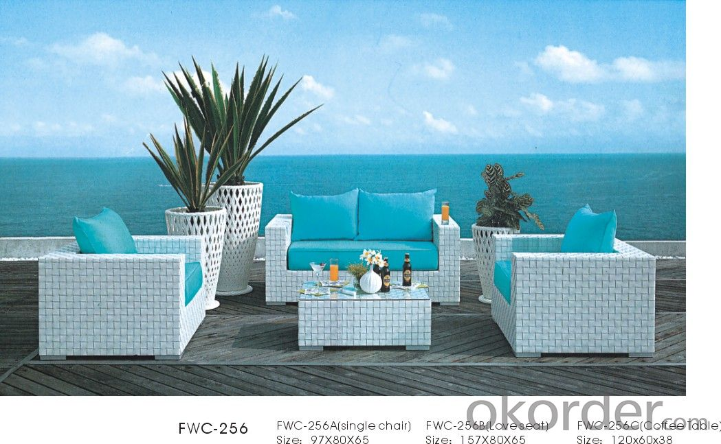 Patio Rattan  Table Dining for Wicker Outdoor Chair Garden used