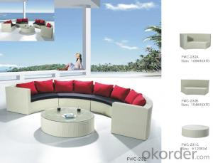 Patio Rattan Sofa for Outdoor Sun Lounge use in Garden Wicker