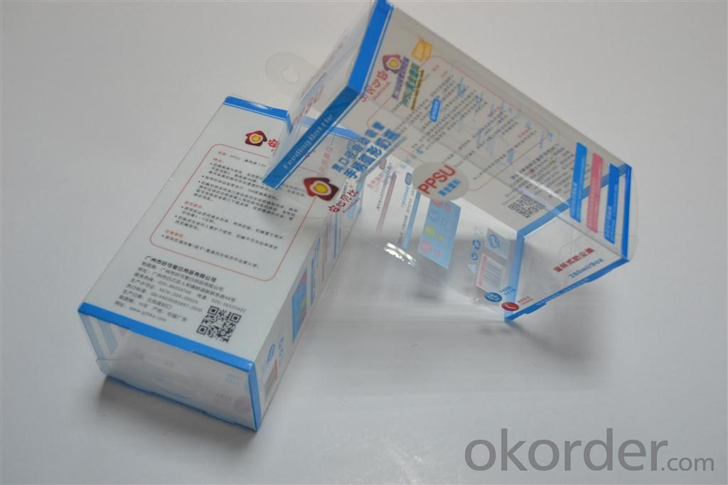 soft crease clear folding pvc plastic box, soft clear folding plastic packaging box made in china
