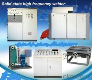 Solid state high frequency equipment for pipe seam welding