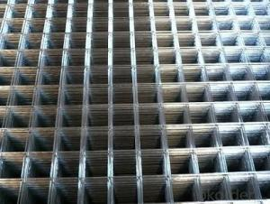 Reinforced Welded Mesh Panel Black Galvanized  for Reinforced Concrete Construction
