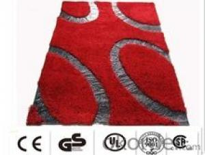 Shaggy Carpet with Leather Design Made in China