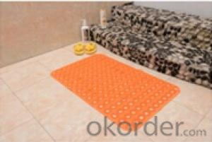 PVC Bath Mat in Fashion Customized Various Sizes