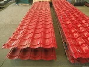 Prepainted Galvanized Corrugated Steel Plate