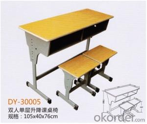 School Adjustable Student Double Desk and Chair  2015 Hot Sale DY-30005