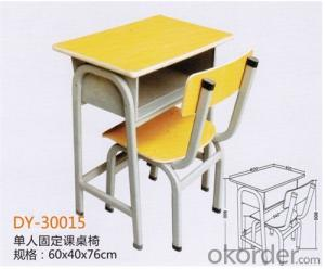 Adjustable Single Desk with Revolving Top and Chair  DY-30008