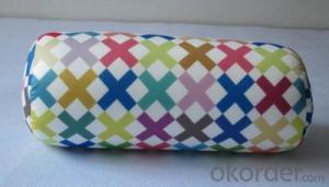 Tube shape beads pillow with beautiful pattern