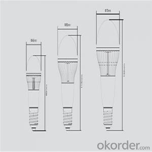 LED bulb moon series  A45-G 3BL E27/WW with Low Cost