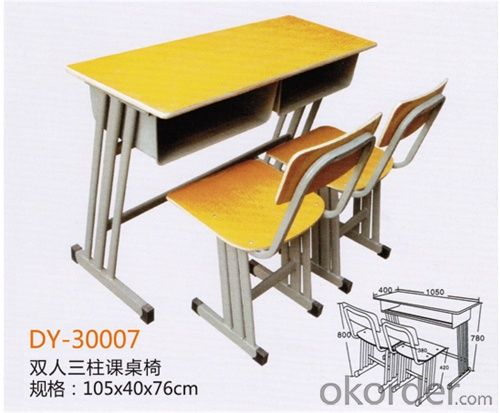 School Student Double Desk and Chair  2015 Hot Sale DY-30007