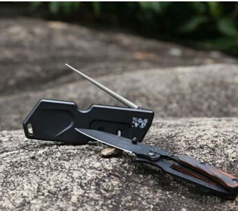 Diamond Knife Sharpener for Outdoor Use Portable Sharpening Tools