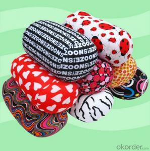 Tube shape beads pillow with beautiful pattern
