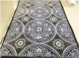 Circle Weave Carpet for Casino Stair Stage Safety Prayer