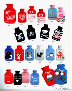 2000ml Hot Water Bottle with Knitted Cover
