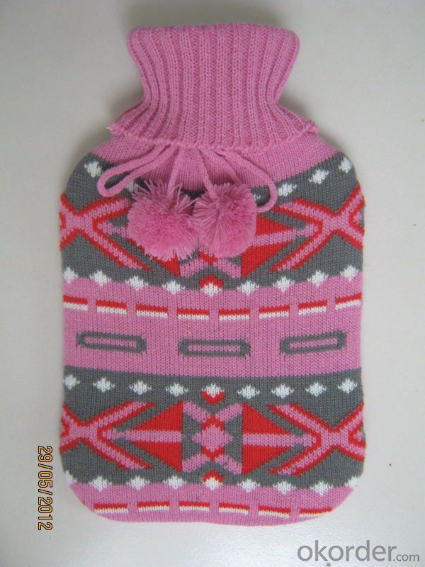 Knitted Hot Water Bottle Cover for Hot Water Bottle