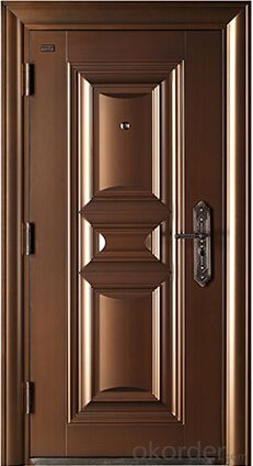 Buy high end galvanized steel door in china price size High end front doors