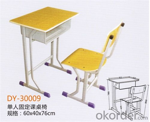 Single Desk and Chair for Promotion DY-30009