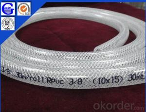 Clear Reinforced PVC Flexible Hose  pipe light weight