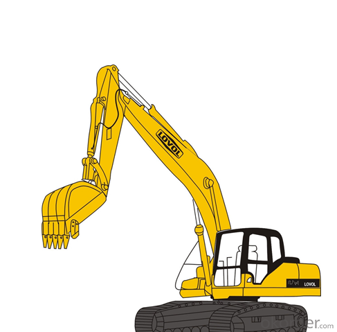Excavator : FR80G,Isuzu Engine with Strong Power and High Efficiency