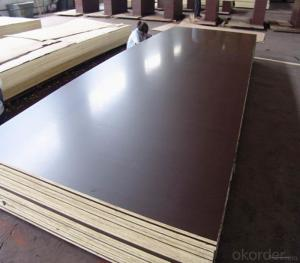 Chinese 18mm black or brown film faced plywood