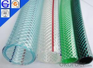 PVC Braided Transparent Green Hose/Pipe