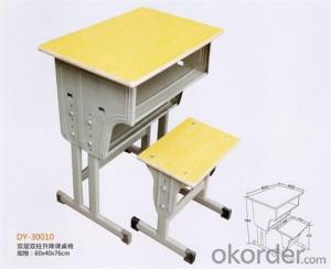 Adjustable Single Desk with two Uprights and Chair  DY-30011