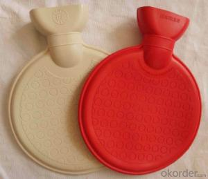Round Shape Hot Water Bottle PVC or Rubber Normal Standard