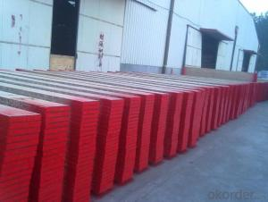 OSHA Certificate LVL Scaffolding Plank with steel cap of both ends for  construction