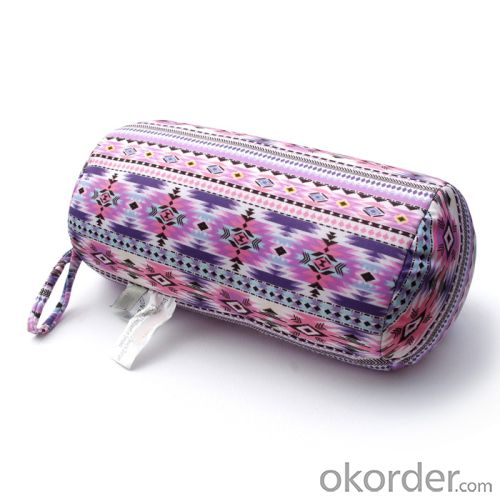 Tube shape beads pillow of beautiful pattern